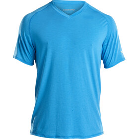 saucony Freedom V-Neck Shirt Men Blue Aster